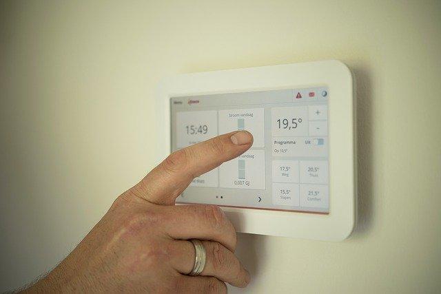dotykové ovládání topení